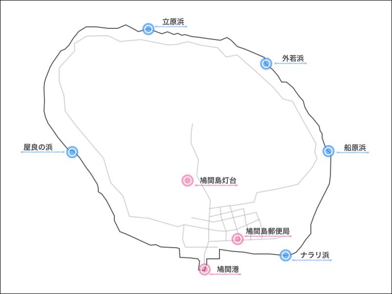 鳩間島,ビーチ