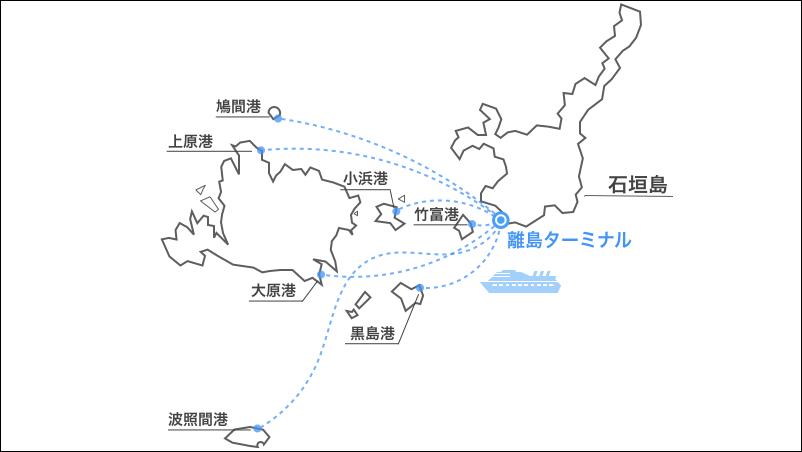 周辺離島,港,地図