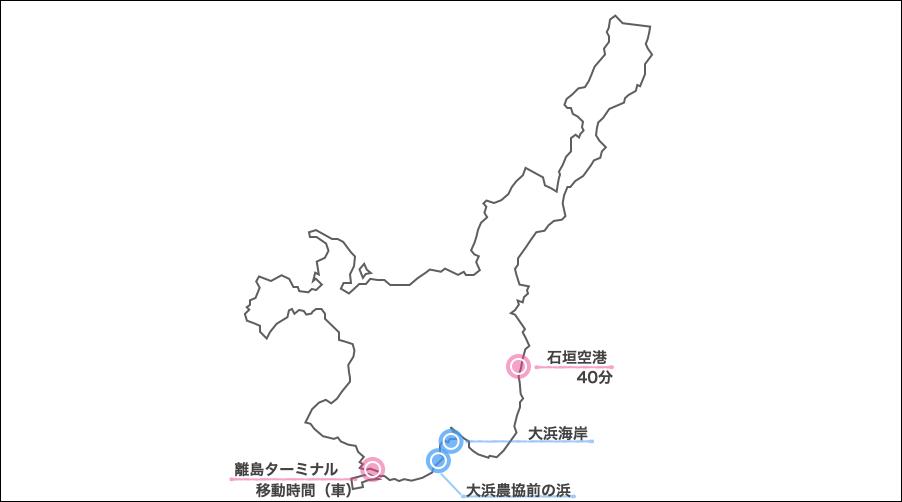 大浜ビーチマップ