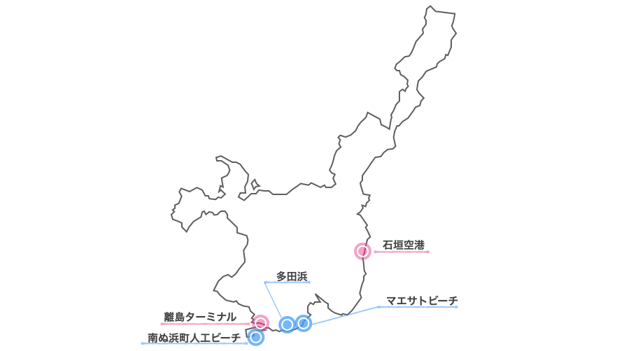 石垣島市街地ビーチマップ